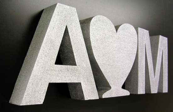 Large Polystyrene Letters